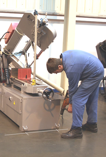 Commissioning Bandsaws, Circular saws and Steelworkers.